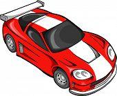 stock photo of street-rod  - Red Street Car Racer Vector Illustration - JPG