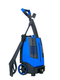 picture of pressure-wash  - Blue pressure portable washer side view on pure white background - JPG