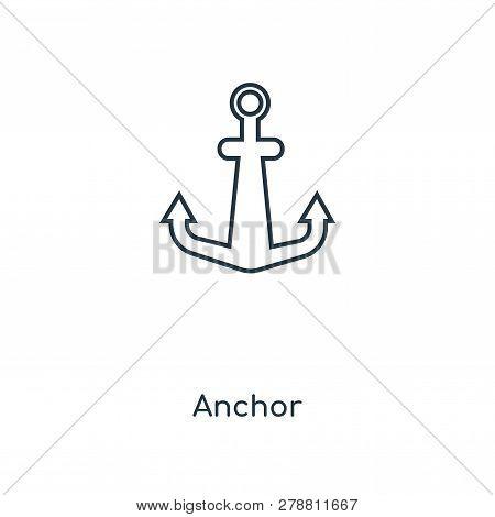 Anchor Icon In Trendy Design