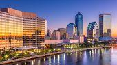 Jacksonville, Florida, USA downtown city skyline. poster
