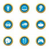 Cyberspace Icons Set. Flat Set Of 9 Cyberspace Icons For Web Isolated On White Background poster