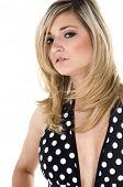 foto of monokini  - Beautiful young blonde haired - JPG