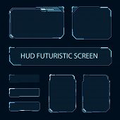 Futuristic Touch Screen Of User Interface. Modern Hud Control Panel. High Tech Screen For Video Game poster