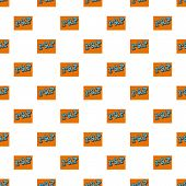 Rap On Bricks Wall Pattern Seamless Vector Repeat For Any Web Design poster
