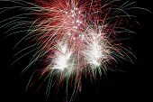 stock photo of guy fawks  - Time exposure of a firework display - JPG
