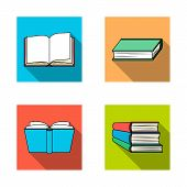 Isolated Object Of Library And Textbook Symbol. Collection Of Library And School Stock Symbol For We poster