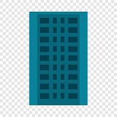 City Apartment Building Icon. Flat Illustration Of City Apartment Building Icon For Web Design poster