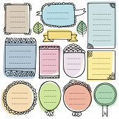 Bullet Journal Hand Drawn Vector Elements For Notebook, Diary And Planner. Cute Doodle Frames Set Is poster