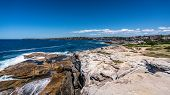 View Of Shark Point And Burrows Park During Bondi To Coogee Coastal Walk In Sydney Nsw Australia poster