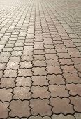 foto of paving stone  - image of paving stones on a road - JPG