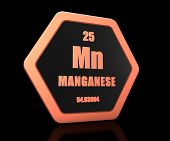 Manganese Chemical Element Periodic Table Symbol 3d Render poster
