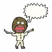 picture of madman  - cartoon zombie crazy madman - JPG