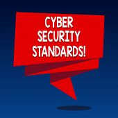 Handwriting Text Writing Cyber Security Standards. Concept Meaning Rules For Organizational Info Sec poster