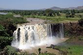 stock photo of ethiopia  - The Blue Nile waterfalls in Ethiopia, in Africa