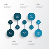 Public. Skyline Icons Line Style Set With Stadium, Lighthouse, Disabled Sign And Other Cloud Element poster
