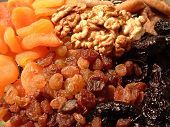 picture of dry fruit  - dried fruits and walnuts - JPG