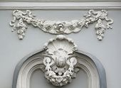 image of building relief  - Building relief detail of architectural frieze - JPG