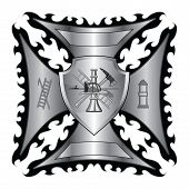 image of maltese-cross  - Illustration of a fire department or firefighter - JPG