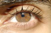 picture of sphincter  - An image of a clock in a brown iris - JPG