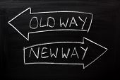 pic of directional  - Old Way - JPG