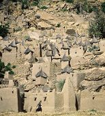 pic of dogon  - Traditional Dogon village Yaye Mali - JPG