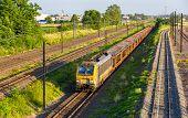 foto of railcar  - Belgian freight train in Strasbourg  - JPG