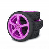 Car wheels render