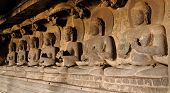 image of ellora  - Buddhist temples bored in rocks in the Ellora town in India Maharashtra India  - JPG
