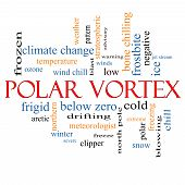 pic of frostbite  - Polar Vortex Word Cloud Concept with great terms such as cold wind chill ice and more - JPG