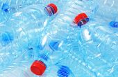 stock photo of reprocess  - Close up shot of empty plastic bottles for recycling - JPG