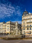 picture of comedy  - Fontaine des Trois Graces on place de la Comedie in Montpellier France