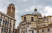 stock photo of labia  - Church San Geremia and Palazzo Labia in Venice - JPG
