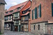 foto of zimmer frame  - Cityview of historic city Quedlinburg in Germany - JPG