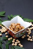 stock photo of fermentation  - studio shot of fermented soybeans called NATTO - JPG