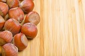 image of filbert  - Bunch of hazelnuts - JPG