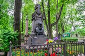 picture of cemetery  - Grave Dostoevsky at the Tikhvin cemetery in St - JPG