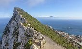 pic of gibraltar  - Image of The Strait of Gibraltar as it can be seen from The Rock of Gibraltar - JPG