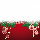 stock photo of x-files  - Christmas cover with white snowflakes on the red background - JPG