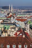 pic of v-day  - V iew of the center of Vienna from a high point Austria - JPG