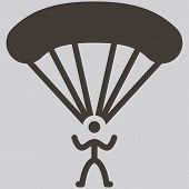 stock photo of parachute  - Extreme sports icon set parachute sport icon - JPG
