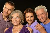 image of laws-of-attraction  - Portrait of a cute family portrait with senior parents - JPG