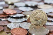 foto of twenty dollars  - New Zealand gold dollar coins money currency  - JPG