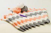 stock photo of knitting  - rolls of soft knitting yarn - JPG