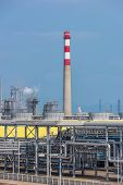 stock photo of gas-pipes  - gas processing factory - JPG
