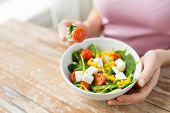 foto of healthy eating girl  - healthy eating - JPG