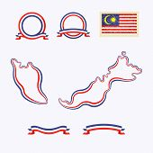 picture of nationalism  - Outline map of Malaysia - JPG