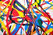 pic of strip  - Abstract acrylic modern painting fragment - JPG