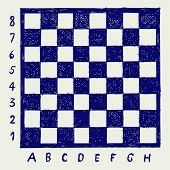 picture of chessboard  - Chessboard with letters and numbers - JPG