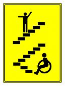 pic of physically handicapped  - Concept sign to vote for accessibility and barrier free environment for people with impairments - JPG