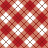 pic of tartan plaid  - Classic diagonal plaid pattern in red repeats seamlessly - JPG